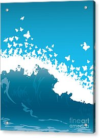 Wave Illustration Acrylic Print by Mire