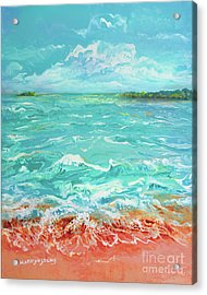 Waves At Sombrero Beach Acrylic Print