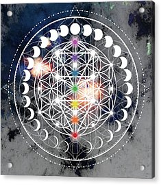 Acrylic Print featuring the digital art We Are Beings Of Light by Bee-Bee Deigner