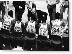 We Prefer Knicks 2 To 1. Coach Red Acrylic Print
