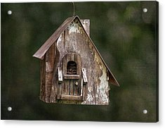Acrylic Print featuring the photograph Weathered Bird House by Dale Kincaid