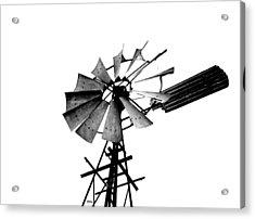 Weathered Windmill - B-w Acrylic Print