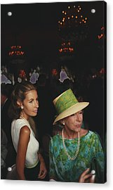Wedding Guests Acrylic Print by Slim Aarons