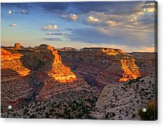 Wedge Overlook Acrylic Print by Yvonne Baur