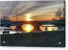 Weeks Bridge At Sunset Acrylic Print