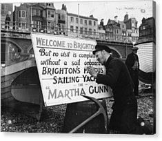 Welcome To Brighton Acrylic Print