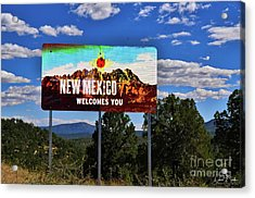 Welcome To New Mexico Acrylic Print by David Burks