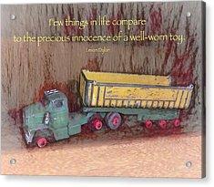Well-worn Toy Acrylic Print