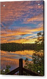 Acrylic Print featuring the photograph Wellesley College Sunset by Juergen Roth