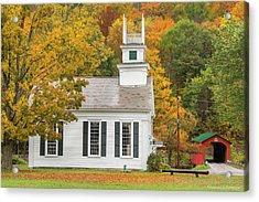 Acrylic Print featuring the photograph West Arlington Vermont Village Green by Expressive Landscapes Fine Art Photography by Thom