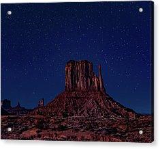 West Mitten Under The Night Sky Acrylic Print