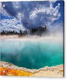 West Thumb Geyser Basin In Yellowstone Acrylic Print