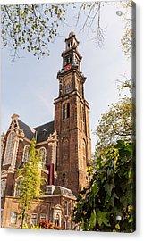 Westerkerk In Amsterdam Acrylic Print