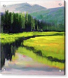 Western River Landscape Acrylic Print