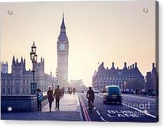Westminster Bridge At Sunset, London, Uk Acrylic Print