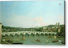 Westminster Bridge From The North With Lambeth Palace In Distance Acrylic Print