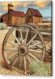 Wheels And Spokes In Color Acrylic Print