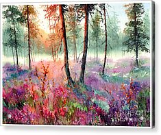 When Heathers Bloom Acrylic Print