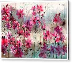 Where Pink Flowers Grew Acrylic Print