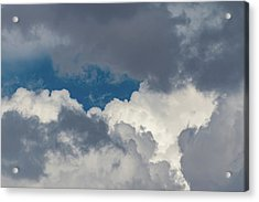 White And Gray Clouds Acrylic Print
