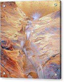 White Canyons Cascade Acrylic Print by Leland D Howard