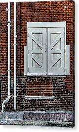 White Doors Acrylic Print by Elijah Knight