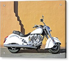 White Indian Motorcycle Acrylic Print