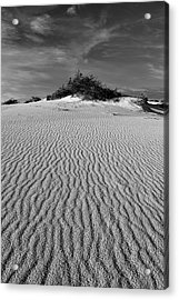 White Sands New Mexico Waves In Black And White Acrylic Print