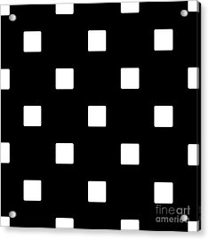 White Squares On A Black Background- Ddh576 Acrylic Print