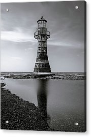 Whiteford Point Lighthouse Reflections Acrylic Print