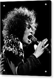 Whitney Houston Live In Concert Acrylic Print by Raymond Boyd