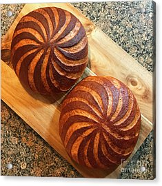 Whole Wheat Sourdough Swirls Acrylic Print