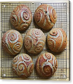 Whole White Wheat, Flax And Rye Sourdough X 7 Acrylic Print
