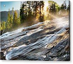 Wilderness River Acrylic Print by Leland D Howard