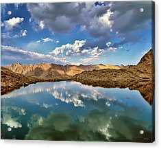 Wildhorse Lake Reflections Acrylic Print by Leland D Howard