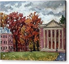 Williams College Rainy Autumn Acrylic Print