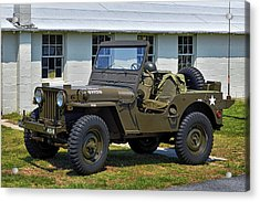 Acrylic Print featuring the photograph Willys Army Jeep 20899516 At Fort Miles by Bill Swartwout Fine Art Photography