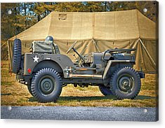Acrylic Print featuring the photograph Willys Jeep U S A 20899516 At Fort Miles by Bill Swartwout Fine Art Photography