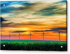 Wind Energy Sunrise Acrylic Print