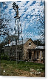 Wind Mill At The Pioneer Museum Acrylic Print by Elijah Knight