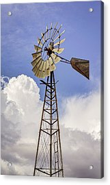 Windmill Before The Storm Acrylic Print