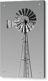 Acrylic Print featuring the photograph Windmill IIi Bw by David Gordon