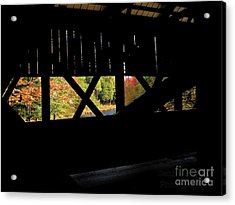 Acrylic Print featuring the photograph Window To Fall by Debbie Stahre