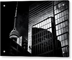 Acrylic Print featuring the photograph Window Washing No 3 by Brian Carson