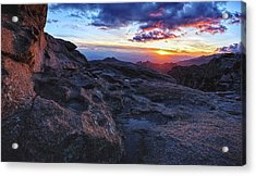 Windy Point Sunset Acrylic Print