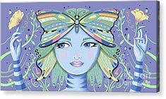 Insect Girl, Winga - Purple Acrylic Print