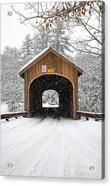 Winter At Babb's Bridge Acrylic Print