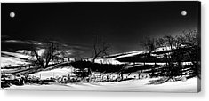 Winter Fence Lines Acrylic Print