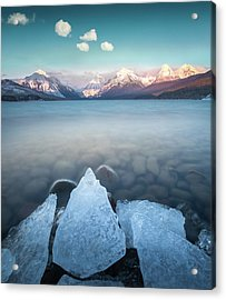Acrylic Print featuring the photograph Winter Formations / Lake Mcdonald, Glacier National Park  by Nicholas Parker