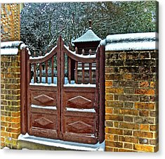 Acrylic Print featuring the photograph Winter Gate by Don Moore